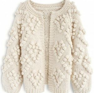 •CHICWISH• Knit Your Love Cardigan In Ivory Sz L.